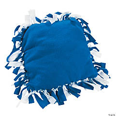 Blue & White Fleece Tied Pillow Craft Kit