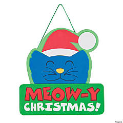 Meow-y Christmas Craft Kit Sign