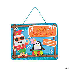 Hawaiian Christmas Craft Kit Sign
