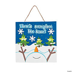 There's Snowplace Like Home Sign Craft Kit
