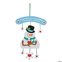 Blizzard Kisses Snowman Sign Craft Kit