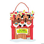 Reindeer Stable Sign Craft Kit