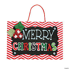 Merry Christmas Chalkboard Sign Craft Kit