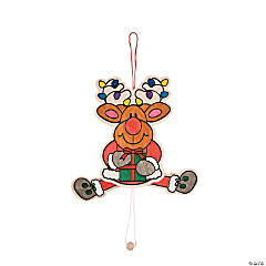Color Your Own Jumping Jack Reindeer
