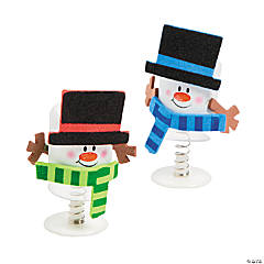 Marshmallow Snowman Pop-Up Christmas Craft Kit