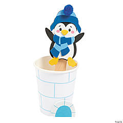 Penguin in Igloo Pop-Up Christmas Craft Kit