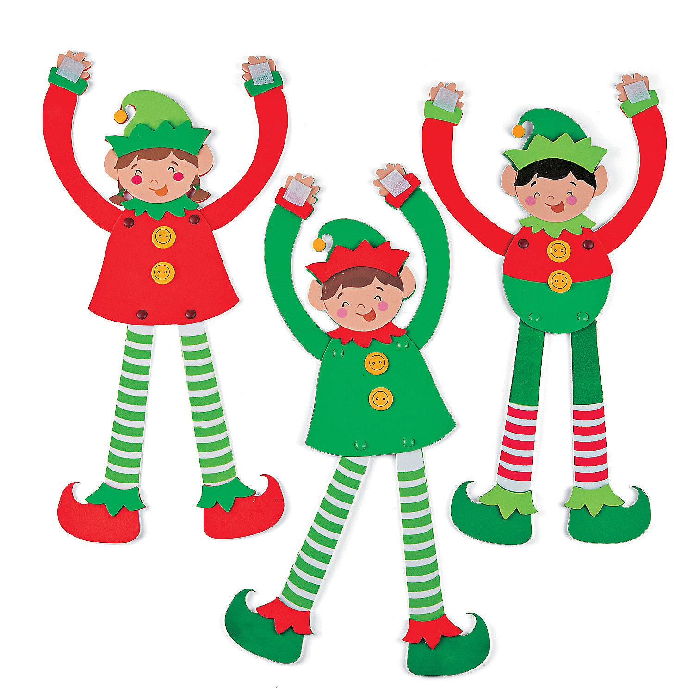 Jointed long arm elves craft kit novelty crafts crafts for Elf crafts for kids