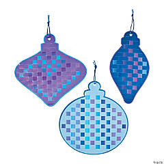 Winter Ornament Weaving Mat Craft Kit