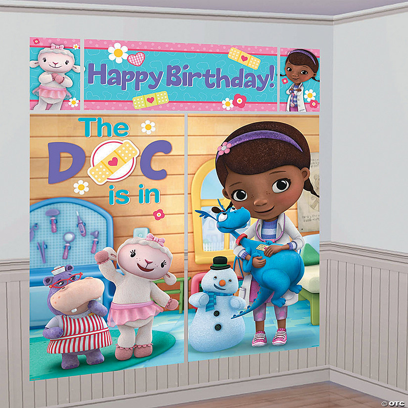 & Doc McStuffins Backdrop Set