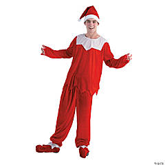 Adult's Red & White Elf Costume for Men