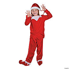 Child's Red & White Elf Costume - Large/Extra Large