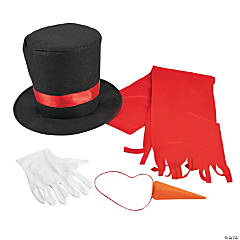 Adult's Instant Snowman Costume Kit