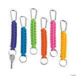 Neon Paracord Key Chain Clip Assortment