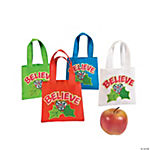 Nylon Mini Believe Christmas Totes