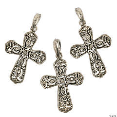 Marcasite Cross Charms