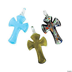 Foil Cross Pendants