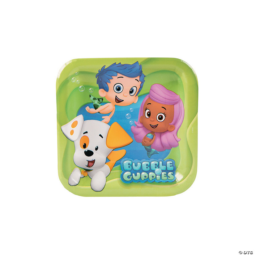 bubble guppies paper dessert plates discontinued