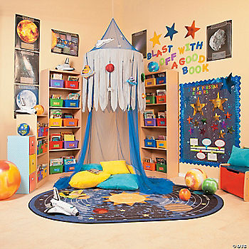 Space reading corner idea for Space themed book corner