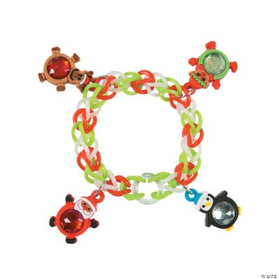 Fun Loop Bracelets with Christmas Charms