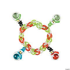 Fun Loop Bracelets with Snowman Charms