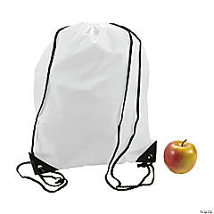 White Drawstring Backpacks