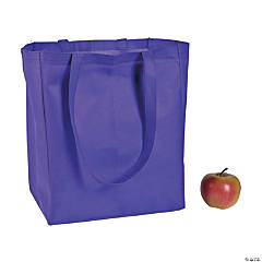 Nonwoven Polyester Purple Shopper Tote Bags