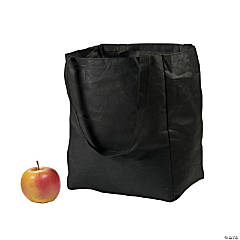 Nonwoven Polyester Black Shopper Tote Bags