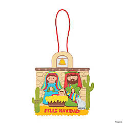 Spanish Nativity Christmas Ornament Craft Kit