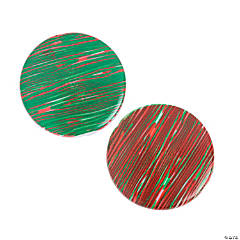 Red & Green Striped Beads