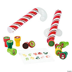 Candy Cane Tube Filled with Stampers