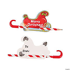 """To/From"" Santa's Sleigh Pencil Giveaways"