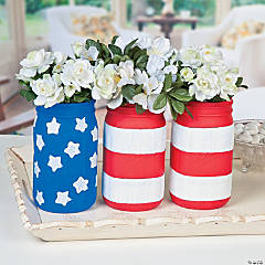Patriotic Mason Jars Idea