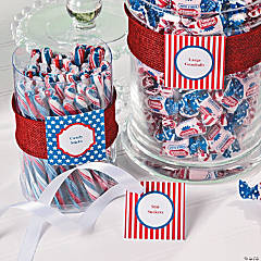 Patriotic Candy Buffet Printable Idea
