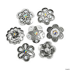 Metal Large Flower Snap Beads - 22mm
