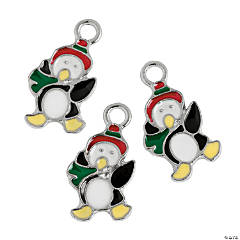 Penguin Enamel Charms - 18mm