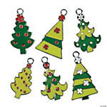 Fun Christmas Tree Enamel Charms