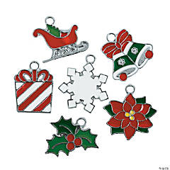 Classic Christmas Enamel Charms - 17mm - 21mm
