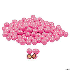 Pastel Pink Sparkle Chocolate-Covered Almonds