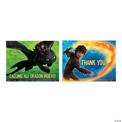 How to Train Your Dragon 2 Invitations Thank You Cards Discontinued