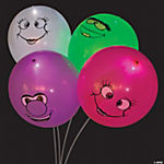 illooms® LED Balloons Happy Face Light-Up Latex Balloons