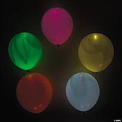 illooms® LED Balloons Mixed Light-Up Latex Balloons