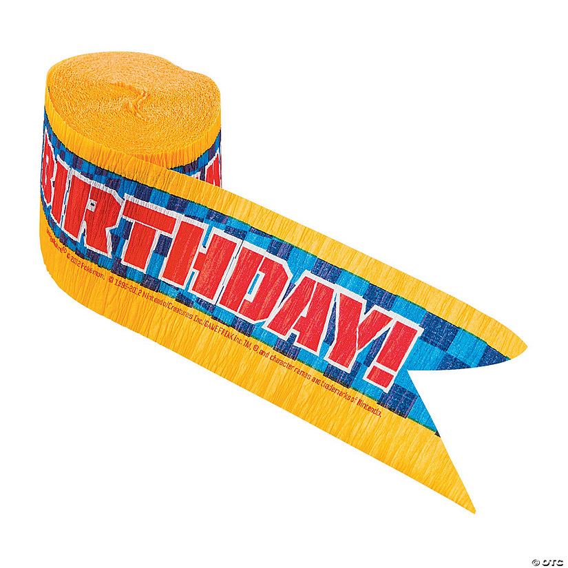pokmon happy birthday paper streamer
