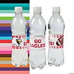 Team Spirit Custom Photo Water Bottle Labels - Fading Stripes