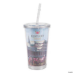 Kentucky Derby Tumbler with Straw