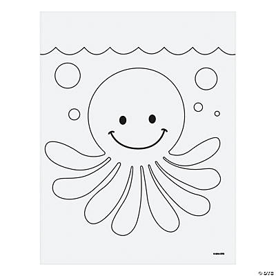 Jeweled octopus mosaic template idea craft ideas for kids