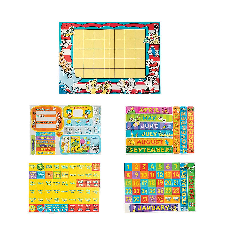 Dr. Seuss™ Calendar Bulletin Board Set - Oriental Trading