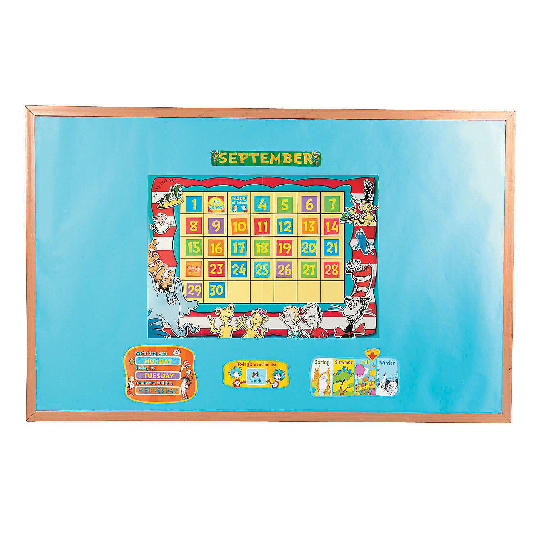 Calendar Bulletin Board Set : Dr seuss™ calendar bulletin board set oriental trading