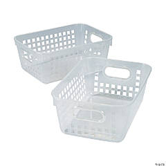 Clear Tall Storage Baskets with Handles