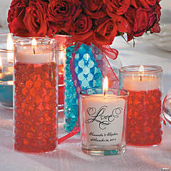 Red & Turquoise Table Setting Idea