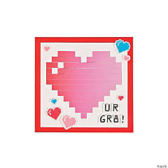 Pixelated Heart Weaving Mat Craft Kit